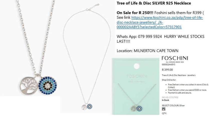 Tree of Life & Disc 925 SILVER Necklace Only R 250 Each 0