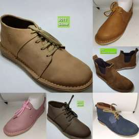 Genuine leather shoes available in stock