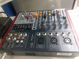 Dixon 5 channel ultra slim mixer with effects am-502fx