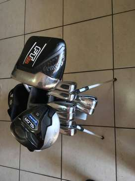 Golf set! Callaway Driver, Taylormade Mini Driver and Cleveland Irons