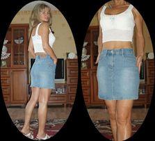 Dżinsowa spódniczka mini***ROZM.XS