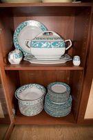 Porcelana Ćmielów Pułaski serwis obiadowy 12 osób 45 elementów NOWY