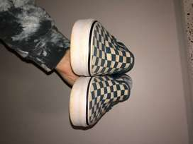 blue checked vans