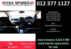 Jeep Compass 2.0/2.4 MK 2007-17 used interior spare parts for sale