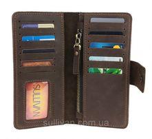 Мужской кожаный кошелек портмоне ручной работы фирмы Sullivan
