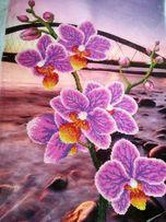 Орхидея и мост, картина, орхідея, міст