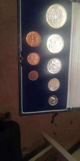 1970 south African proof coin set with silver R1 coinThe