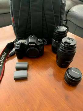 Canon EOS 5d triple lens and free carry bag