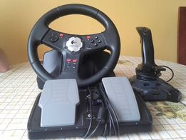 Kierownica komputerowa i joystick