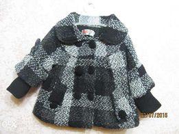 Детское теплое осеннее-весеннее пальто на девочку