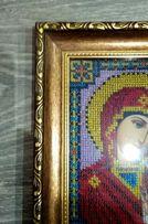 Картины-иконы с бисера в наличии 4 шт венчальная пара рама стекло