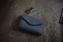 NOWY portfel portmonetka mała szara