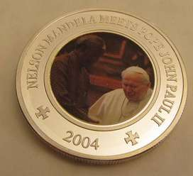2004 Mandela and Pope Somalia 25 shillings