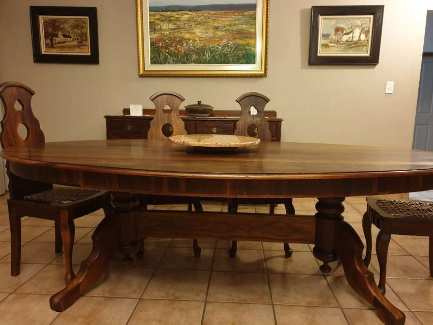 Solid teak dining table - 8 seater 0
