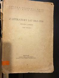 Z literatury lat 1863 - 1918