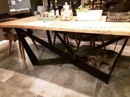 Stół dębowy, stół industrialny rozkładany 200 x 90 podstawa skorpion