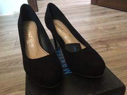 Hiszpańskie nowe buty czółenka klasyczne a'la zamsz