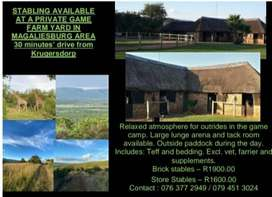 Horse stabling available