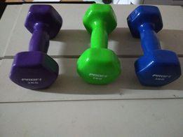Виниловые гантели для фитнеса 1 кг