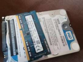 Hard drive and 4GB DDR3 Laptop Ram