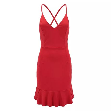 Czerwona sukienka wiązanie na plecach Gniezno - image 1