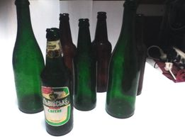 Бутылки из сахарного стекла