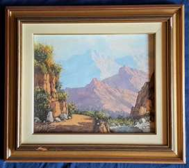Original oil painting by Reginald Grattan