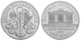 """Серебряная монета """"Венская Филармония"""", 2010 г."""