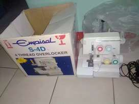 Empisal s4D overlocker sewing machine for sale in working with accesso