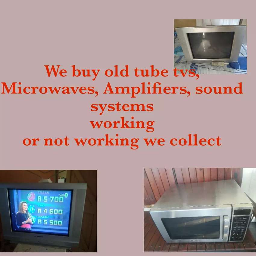 Old tube tvs, led tvs, microwaves, Amplifiers 0
