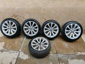 """Bmw 17"""" runflat tires and rims for sale"""