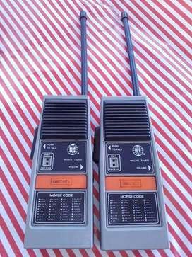 Antique walkie talkies ( with morse code feature)