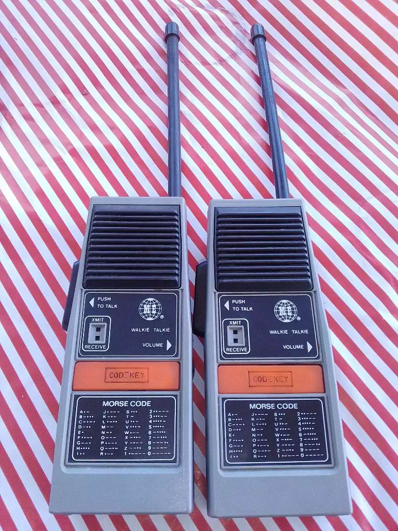 Antique walkie talkies ( with morse code feature) 0