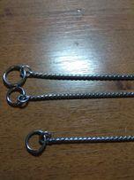 Ошейники цепочки для собак разной длины.