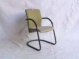 Green fabric visitor chair