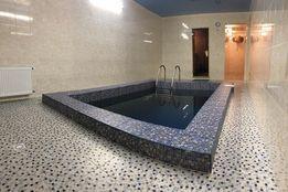 Сауна, баня с бассейном новая