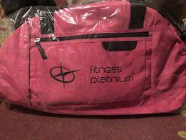 Nowa torba treningowa na siłownie różowa