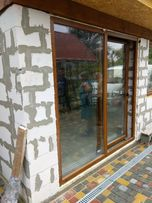 Раздвижная дверь ПВХ наружная конструкция теплая Окна Дверь