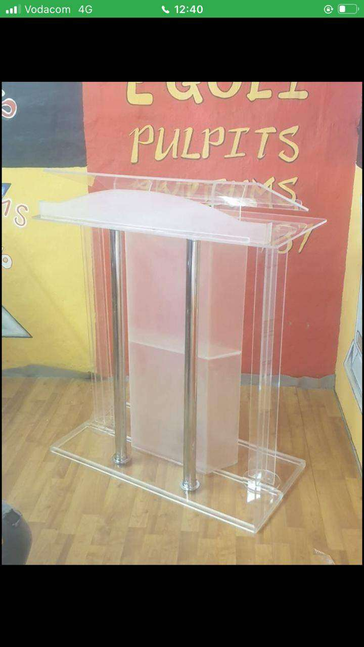 Pulpit, Custom Design, Frosted