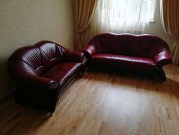 Кожаные диваны комплект 2-ка и 3-ка