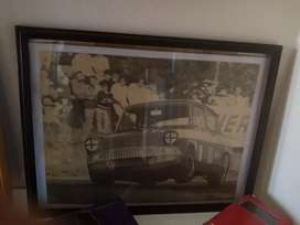 Anglia, racing, old framed picture
