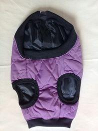 Жилет-куртка для собак утепленный красивого фиолетового цвета размер М
