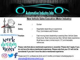 New Vehicle Sales Executive (Motor Industry) - Durban