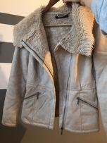 Kożuszek kurtka zimowa futerko beżowa Mohito