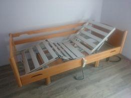 Zestaw: łóżko rehabilitacyjne, nowy materac podkładowy i szafka