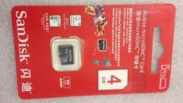 Карта памяти micro SD Объем 4 GB