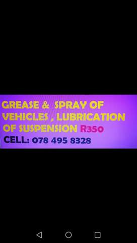 Grease and spray of suspension