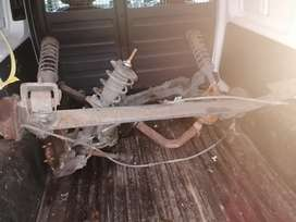 1999 MAZDA 121 SOHO REAR AXLE COMPLETE WITH HUBS