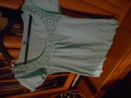 bluzeczka bawełniana błękitna z koronką Denim roz 12