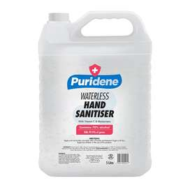 PURIDENE SANITIZER 5L R249.95  Protects you and your family by killing
